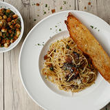 Spaghetti with Sardines and Fried Capers