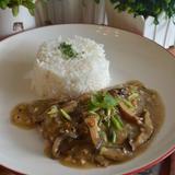 Roast Beef with Mushroom Gravy